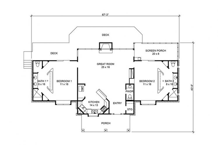 Country House Plan - Randall 26013 - 1st Floor Plan