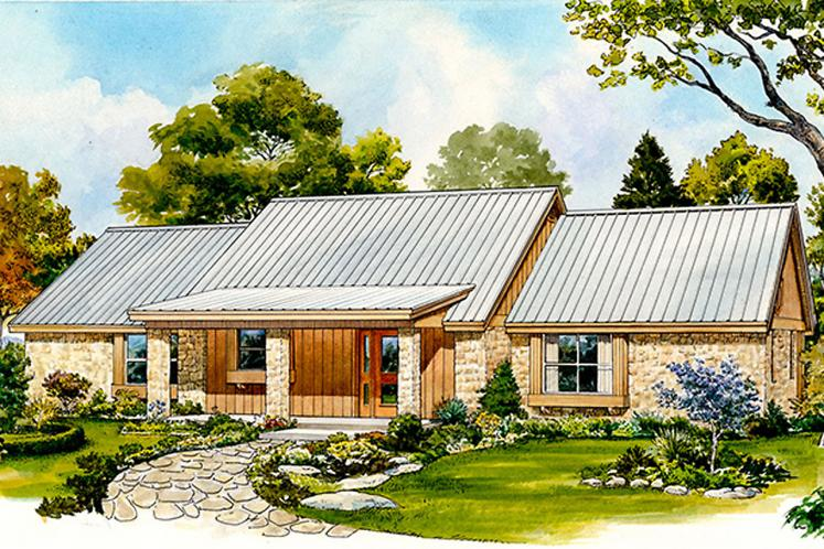 Ranch House Plan - Randall 26013 - Front Exterior