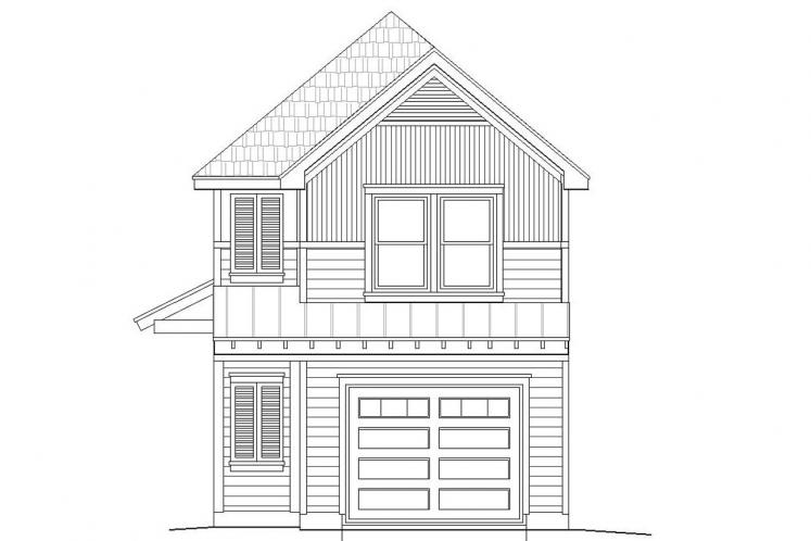 Traditional House Plan -  26360 - Rear Exterior