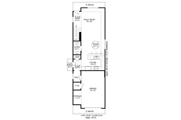 Cottage House Plan -  26360 - 1st Floor Plan