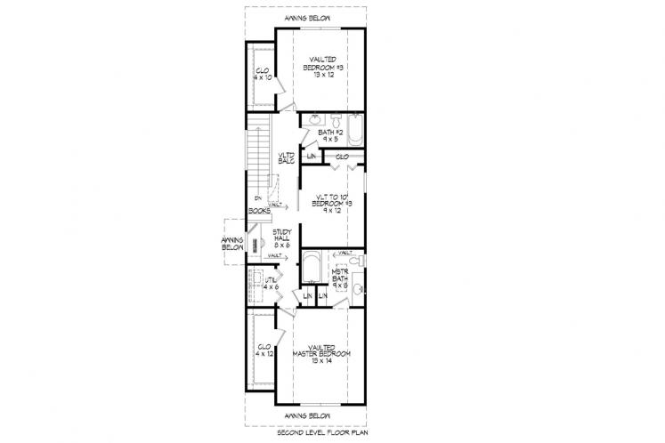 Traditional House Plan -  26360 - 2nd Floor Plan