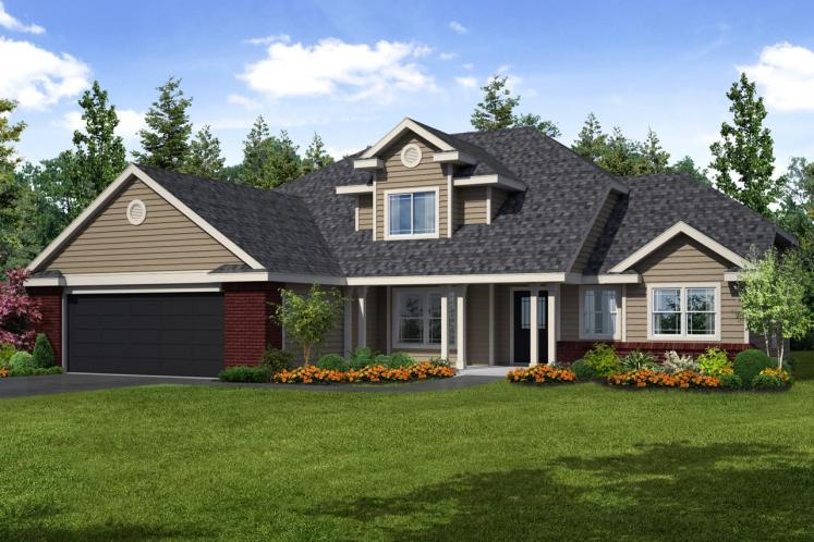 Traditional House Plan - Chivington 26371 - Front Exterior