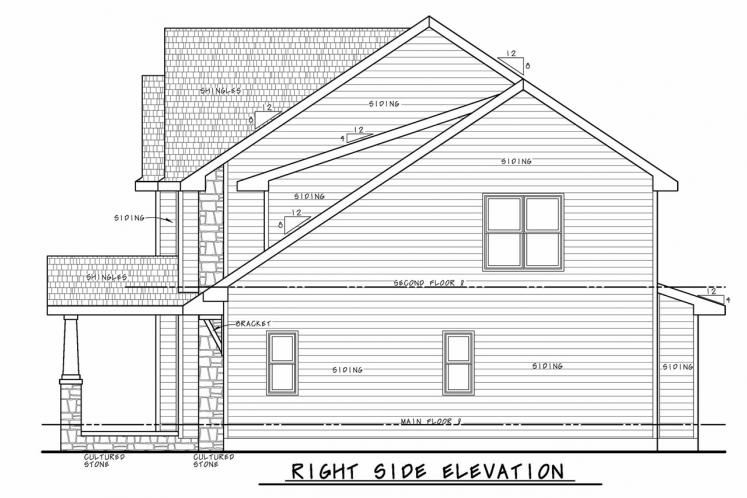 Country House Plan - Chalco Garden 26392 - Right Exterior