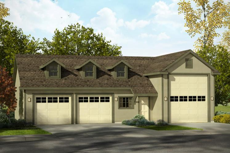 Traditional Garage Plan -  26446 - Front Exterior