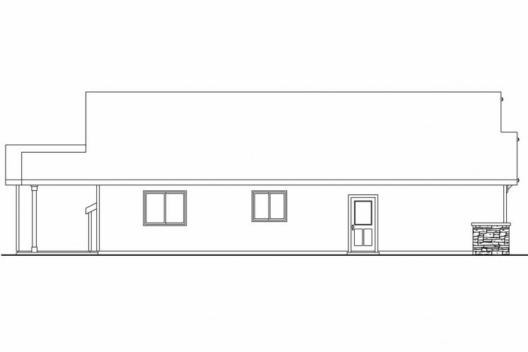 Ranch House Plan - Westwood 26472 - Left Exterior