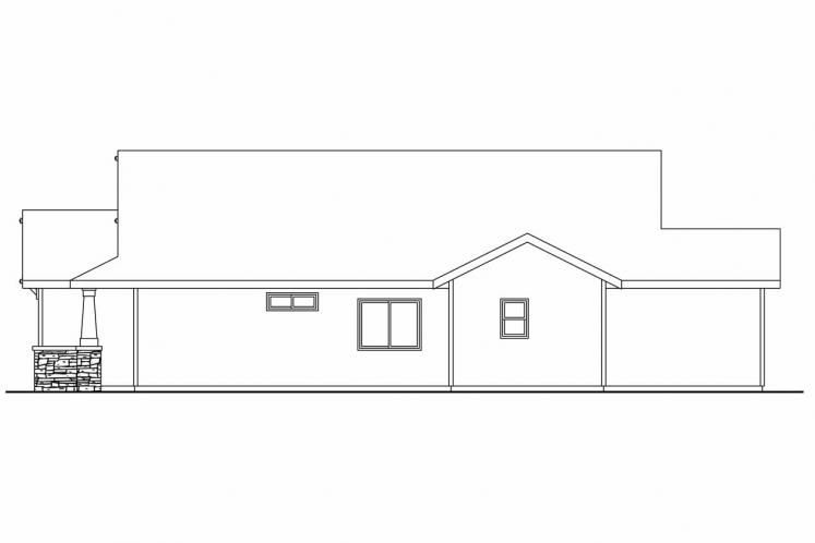 Craftsman House Plan - Westwood 26472 - Right Exterior