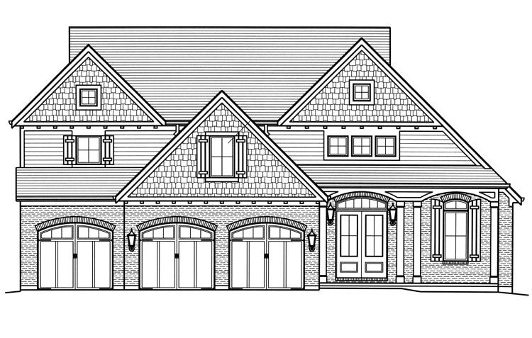 Cape Cod House Plan - Loretto 26493 - Front Exterior
