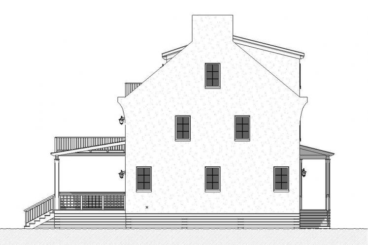 Southern House Plan - Caliza 26527 - Left Exterior
