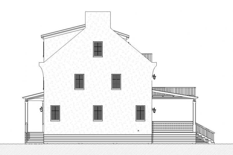 Spanish House Plan - Caliza 26527 - Right Exterior