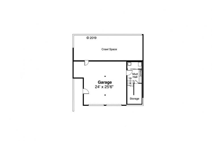 Modern House Plan - Staghorn 26537 - Basement Floor Plan