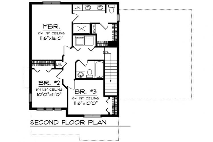 Contemporary House Plan -  26649 - 2nd Floor Plan