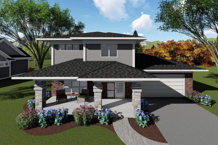 Contemporary House Plan -  26649 - Front Exterior