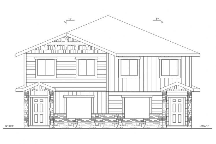Craftsman Multi-family Plan -  26663 - Front Exterior
