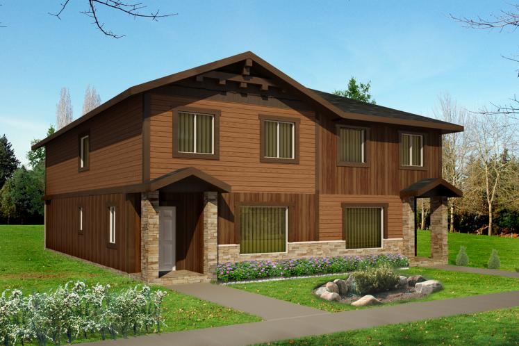 Country Multi-family Plan -  26663 - Front Exterior