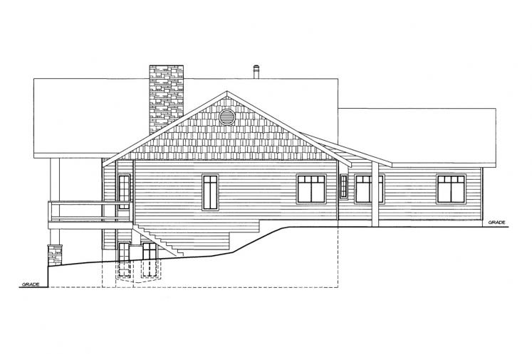 Lodge Style House Plan -  26666 - Left Exterior