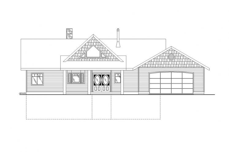 A-Frame House Plan -  26666 - Front Exterior
