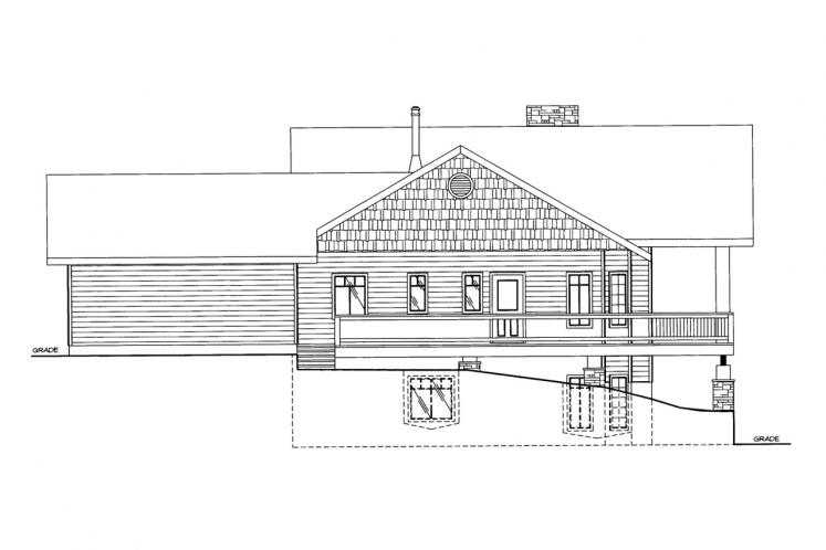 A-Frame House Plan -  26666 - Right Exterior