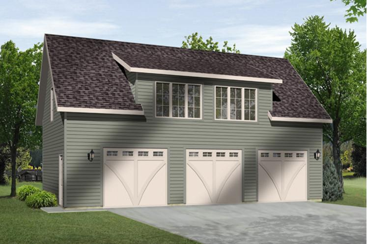 Traditional Garage Plan -  26722 - Front Exterior