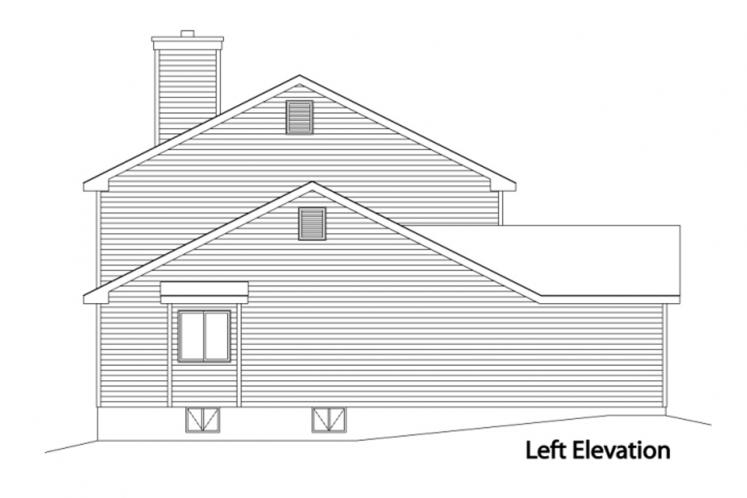 Country House Plan -  26728 - Left Exterior