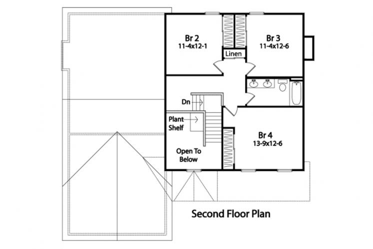 Country House Plan -  26728 - 2nd Floor Plan
