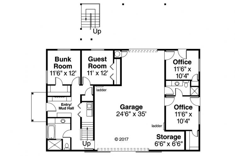 Country Garage Plan -  26798 - 1st Floor Plan