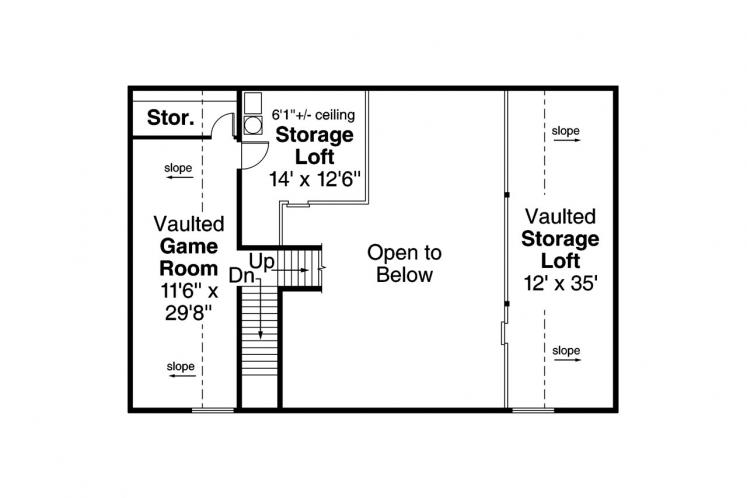 Traditional Garage Plan -  26798 - 2nd Floor Plan
