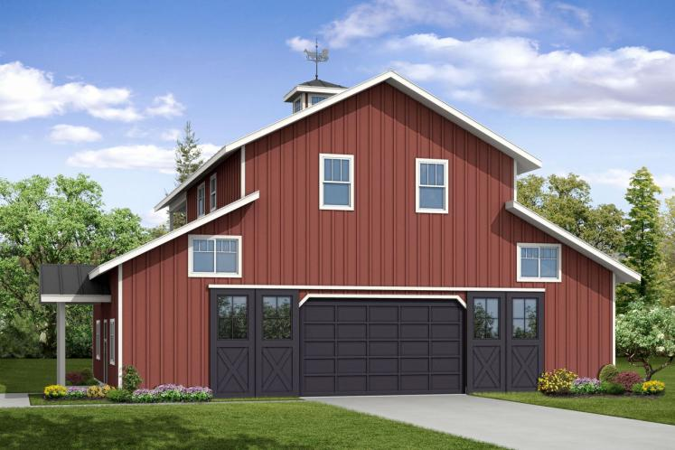 Country Garage Plan -  26798 - Front Exterior