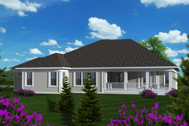 Craftsman House Plan -  26812 - Rear Exterior