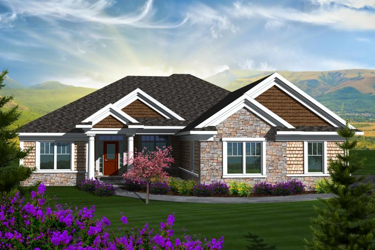 Traditional House Plan -  26812 - Front Exterior
