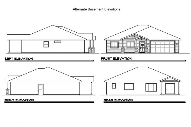 Ranch House Plan - Dogwood 26873 - Front Exterior