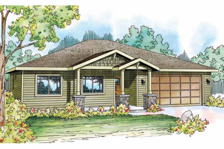 Craftsman House Plan - Dogwood 26873 - Front Exterior