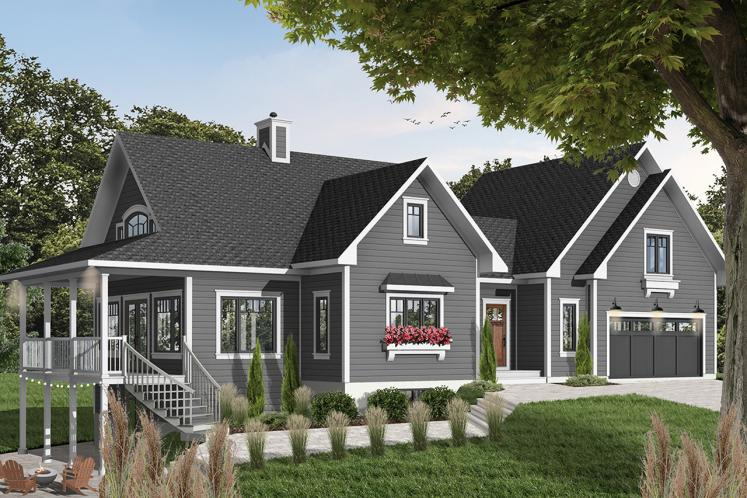 Traditional House Plan - The Thatchery 26893 - Front Exterior