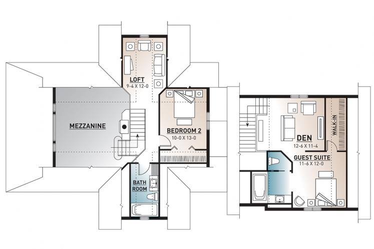Traditional House Plan - The Thatchery 26893 - 2nd Floor Plan