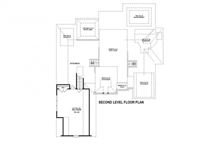 Southern House Plan -  26946 - 2nd Floor Plan