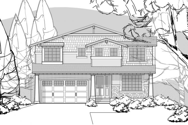 Craftsman House Plan -  26984 - Front Exterior