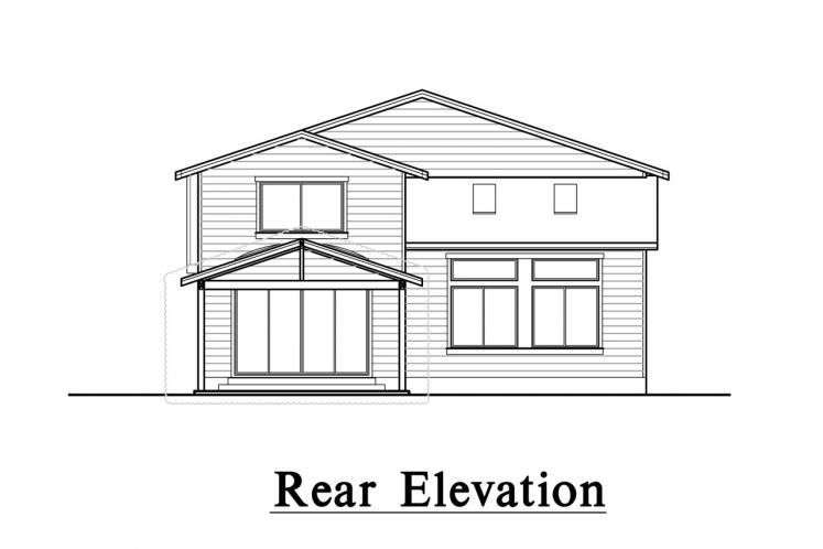 Traditional House Plan -  26984 - Rear Exterior