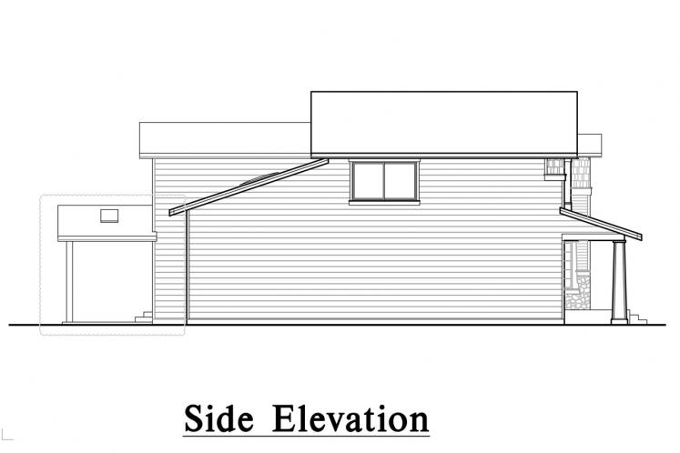 Traditional House Plan -  26984 - Left Exterior