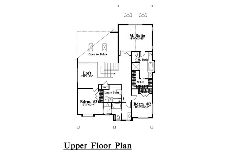 Craftsman House Plan -  26984 - 2nd Floor Plan