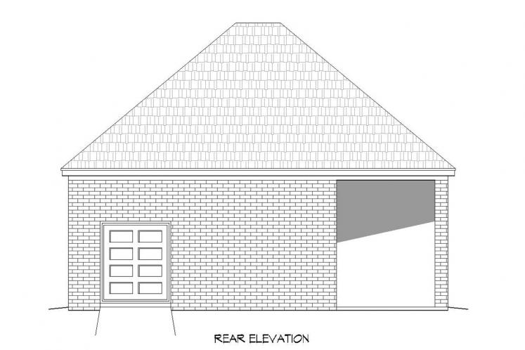 Classic Garage Plan -  26990 - Rear Exterior