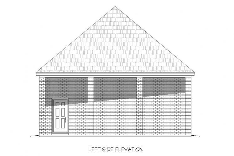 European Garage Plan -  26990 - Left Exterior