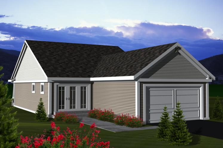 Cottage House Plan -  27062 - Rear Exterior