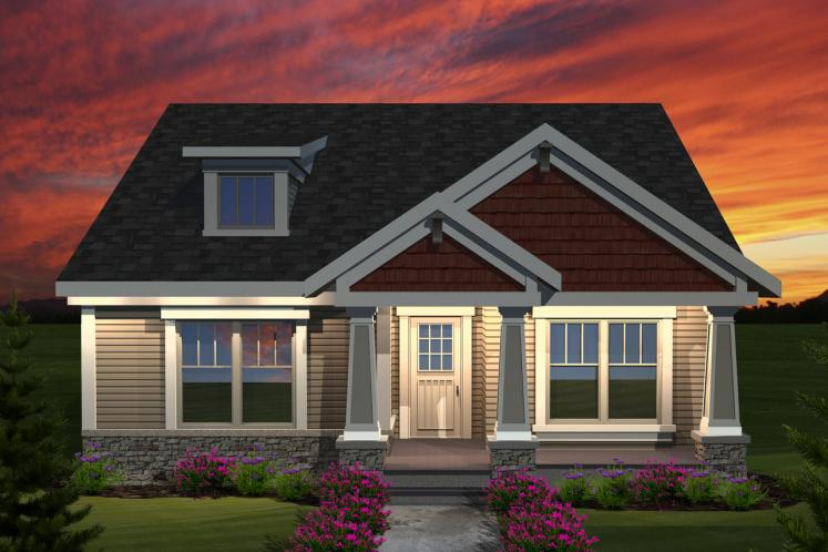 Craftsman House Plan -  27062 - Front Exterior