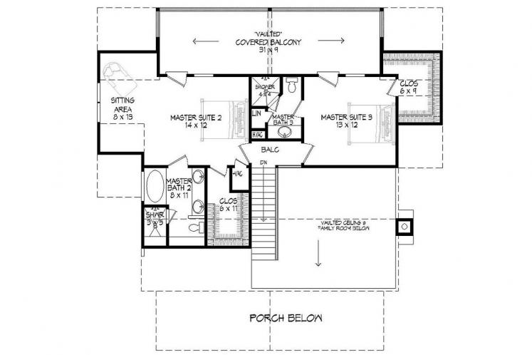 Cottage House Plan -  27083 - 2nd Floor Plan