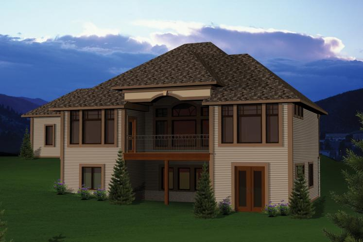 Southwest House Plan -  27095 - Rear Exterior