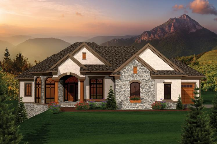 Ranch House Plan -  27095 - Front Exterior