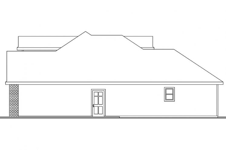 Traditional House Plan - Hennebery 27362 - Right Exterior