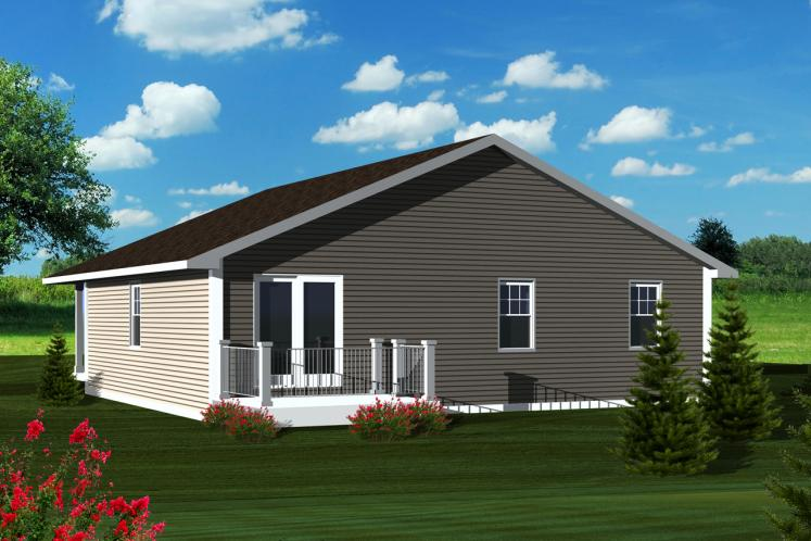 Traditional House Plan -  27506 - Rear Exterior