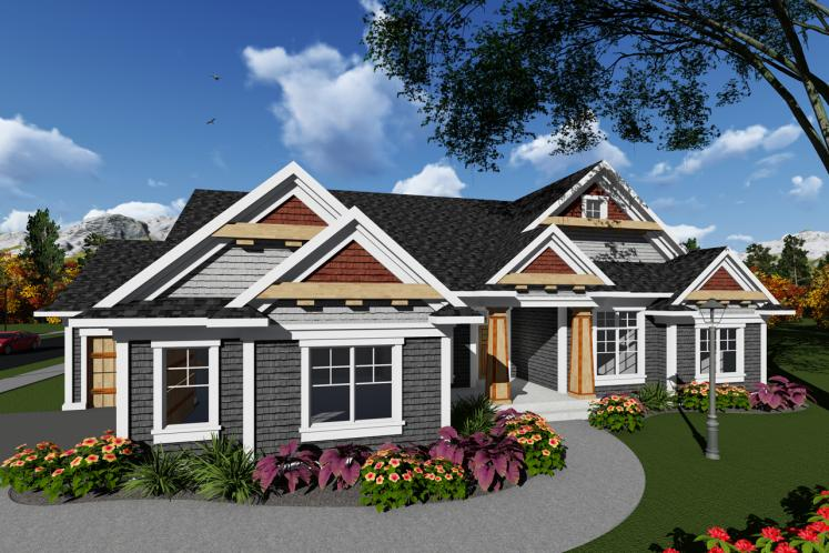 Craftsman House Plan -  27560 - Front Exterior