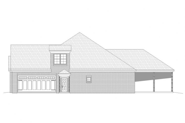 Craftsman House Plan - Center Hill 27566 - Right Exterior