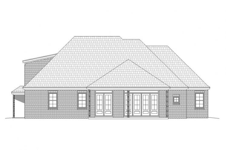 Country House Plan - Center Hill 27566 - Rear Exterior